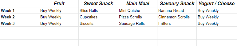 school year meal plan