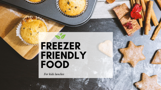 Freezer friendly food for kids lunches