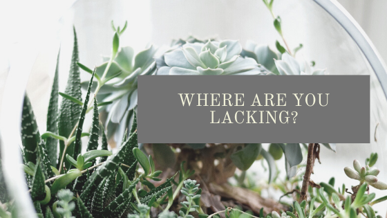 Where are you lacking?